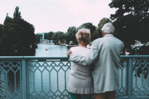 Old couple on bridge http://barnimages.com/